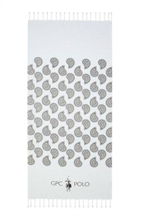 """Greenwich Polo Club πετσέτα θαλάσσης - παρεό με λαχούρια """"Essential 3536"""" 80 x 180 cm"""
