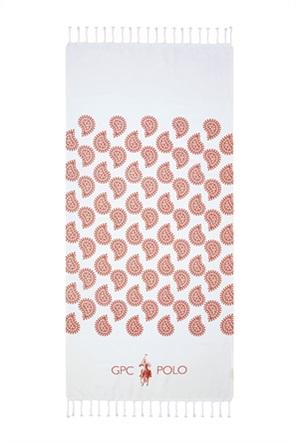 """Greenwich Polo Club πετσέτα θαλάσσης - παρεό με λαχούρια """"Essential 3537"""" 80 x 180 cm"""