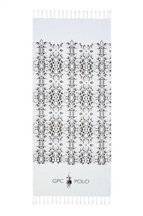 """Greenwich Polo Club πετσέτα θαλάσσης - παρεό με γεωμετρικά print """"Essential 3538"""" 80 x 180 cm"""
