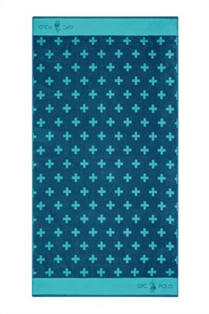 """Greenwich Polo Club πετσέτα θαλάσσης με γεωμετρικά print """"3550"""" 90 x 170 cm"""
