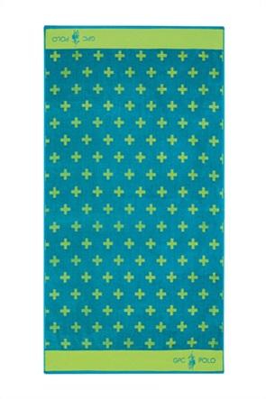 """Greenwich Polo Club πετσέτα θαλάσσης με γεωμετρικά print """"3553"""" 90 x 170 cm"""