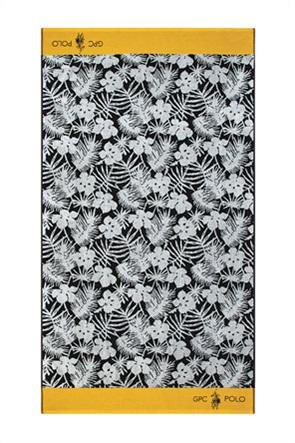 """Greenwich Polo Club πετσέτα θαλάσσης με floral print """"3560"""" 90 x 170 cm"""