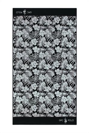 """Greenwich Polo Club πετσέτα θαλάσσης με floral print """"3562"""" 90 x 170 cm"""
