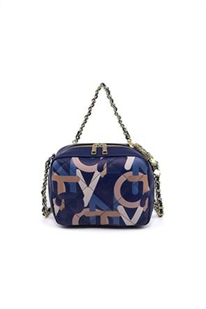 "Y Not? γυναικεία camera bag με logo print και αλυσίδα ""Charm"""