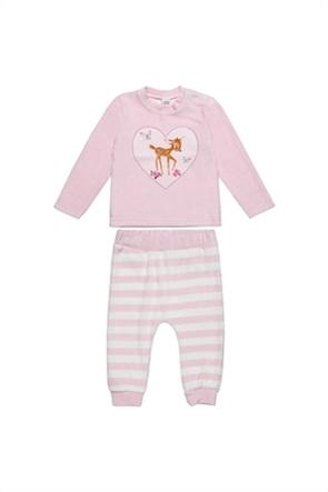 Alouette βρεφικό σετ ρούχων μπλούζα με Bambi print και παντελόνι ριγέ (3-18 μηνών)