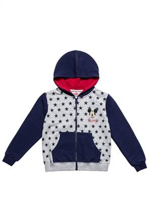 "Alouette παιδική ζακέτα φούτερ με κουκούλα colourblocked ""Disney Mickey Mouse"" (12 μηνών-5 ετών)"