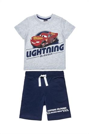 "Alouette παιδικό σετ ρούχων T-shirt με print και βερμούδα ""Disney Cars"" (2-6 ετών)"