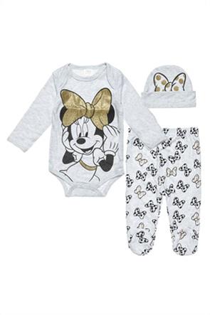 "Alouette βρεφικό σετ ρούχων φορμάκι με παντελόνι και σκουφάκι ""Disney Minnie Mouse"" (0-3 μηνών)"