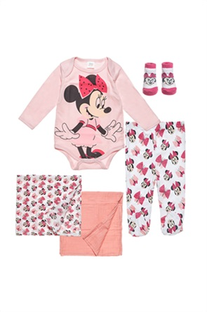 """Alouette βρεφικό σετ με graphic print """"Disney Minnie Mouse""""(0-3 μηνών) (5 τεμάχια)"""