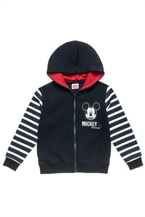 """Αlouette παιδική ζακέτα φούτερ με ρίγες και graphic print """"Disney Mickey Mouse"""" (18 μηνών-5 ετών)"""
