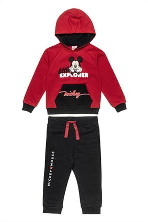 "Alouette παιδικό σετ ρούχων μπλούζα φούτερ και παντελόνι ""Disney Mickey Mouse"" (18 μηνών-5 ετών)"