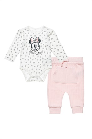 "Alouette βρεφικό σετ ρούχων φορμάκι πουά με print και παντελόνι ""Disney Minnie Mouse"" (3-12 μηνών)"