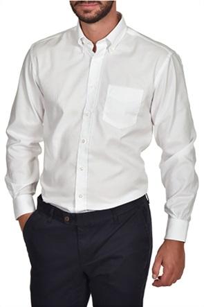 Dur ανδρικό μονόχρωμο πουκάμισο Oxford με μία τσέπη