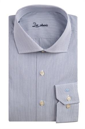Dur ανδρικό πουκάμισο ριγέ με κεντημένο λογότυπο