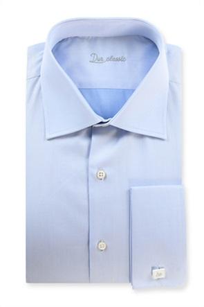 Dur ανδρικό πουκάμισο μονόχρωμο με ύφανση twill
