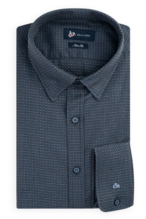 Dur ανδρικό ζακάρ πουκάμισο με πουά μικροσχέδιο
