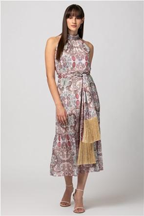 Billy Sabbado γυναικείο midi φόρεμα αμάνικο με all-over print