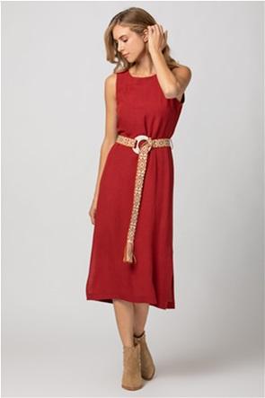 Billy Sabbado γυναικείο midi φόρεμα με ζώνη