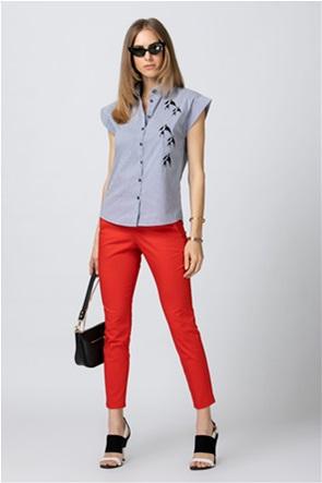 Billy Sabbado γυναικείο πουκάμισο ριγέ με print