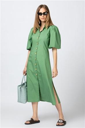 Billy Sabbado midi φόρεμα σεμιζιέ με puff μανίκια