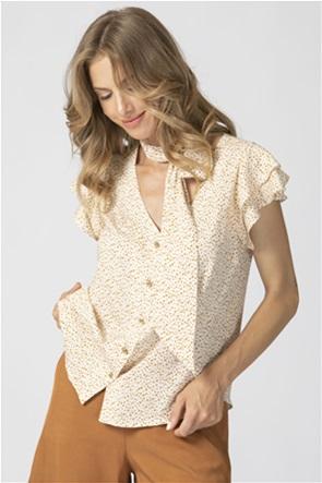 Billy Sabbado γυναικείο πουκάμισο πουά με δέσιμο