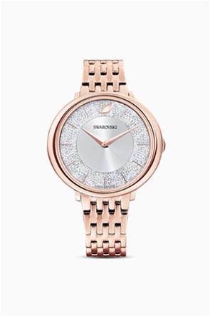 Swarovski Crystalline Chic Watch, Metal bracelet, Rose gold tone, Rose-gold tone PVD