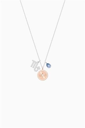 Swarovski Zodiac Pendant, Scorpio, Blue, Rhodium plated