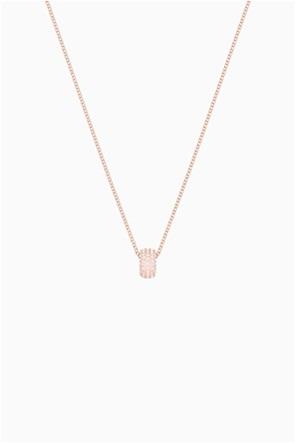 Swarovski Stone Round Ring, Pink, Rose-gold tone plated
