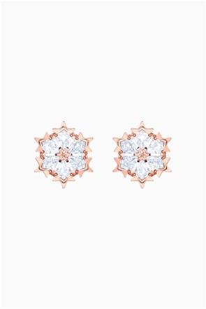 Swarovski Magic Pierced Earrings, White, Rose-gold tone plated
