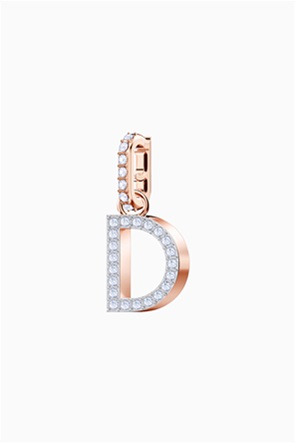 Swarovski Remix Collection Charm D, White, Rose-gold tone plated