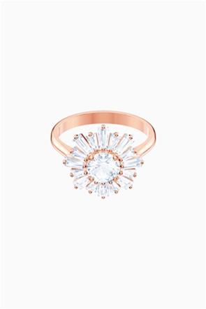 Swarovski Sunshine Ring, White, Rose-gold tone plated
