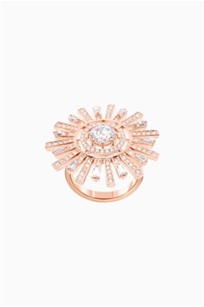Swarovski Sunshine Cocktail Ring, White, Rose-gold tone plated