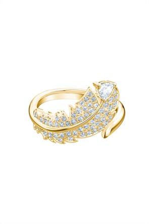 Swarovski Nice Motif Ring, Gold-tone plated Size 58