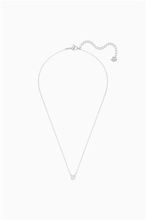 Swarovski Attract Round Necklace, White, Rhodium plated