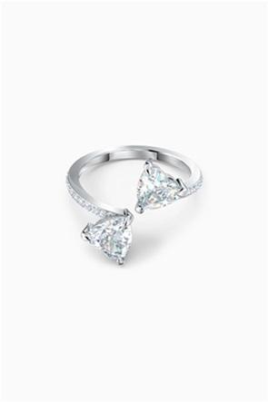 Swarovski Attract Soul Heart Ring, White, Rhodium plated