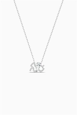 Swarovski Zodiac II Pendant, Aquarius, White, Mixed metal finish