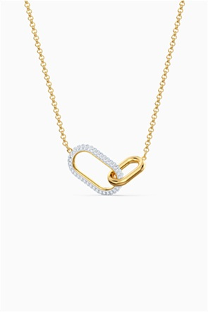 Swarovski Time Necklace, Medium, White, Mixed metal finish