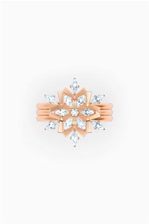 Swarovski Magic Ring Set, White, Rose-gold tone plated