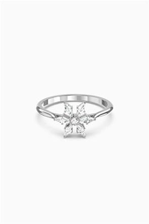 Swarovski Magic Ring, White, Rhodium plated