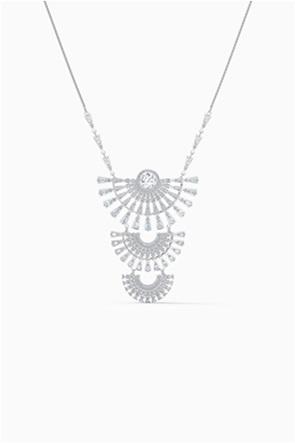 Swarovski Sparkling Dance Dial Up Necklace, Large, White, Rhodium