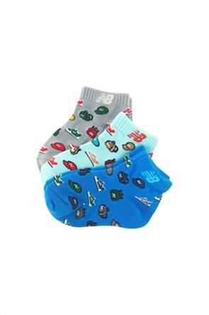 New Balance βρεφικές κάλτσες ''Pixel Art'' (σετ 3 τεμαχίων)