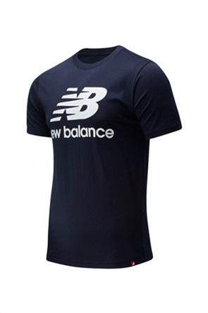 New Balance ανδρικό T-shirt με logo print ''Essentials Stacked Logo''