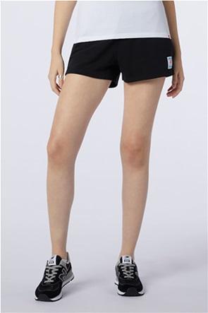 New Balance γυναικείο αθλητικό σορτς με logo patch ''Essentials''
