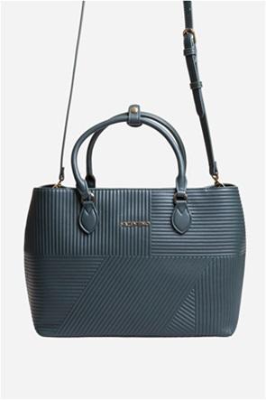 Valentino by Mario Valentino γυναικεία τσάντα χειρός με ribbed σχέδιο
