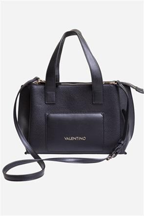 Valentino by Mario Valentino γυναικεία τσάντα χειρός με μεταλλικό λογότυπο