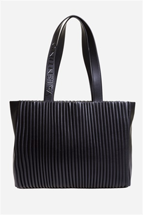 Valentino by Mario Valentino γυναικεία τσάντα ώμου με ανάγλυφο ribbed σχέδιο