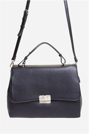 Valentino by Mario Valentino γυναικεία τσάντα ώμου με μεταλλικό κούμπωμα