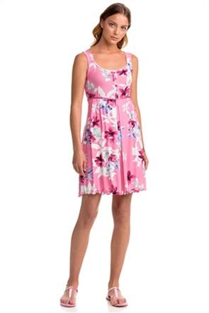 Vamp γυναικείo νυχτικό με floral print και ρέλι