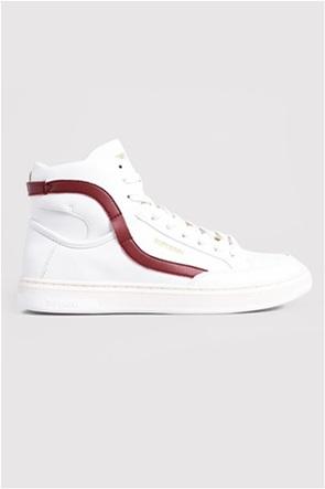 "Superdry ανδρικά sneakers - μποτάκια με ρίγα στο πλάι ""Vegan Basket Lux Trainers"""