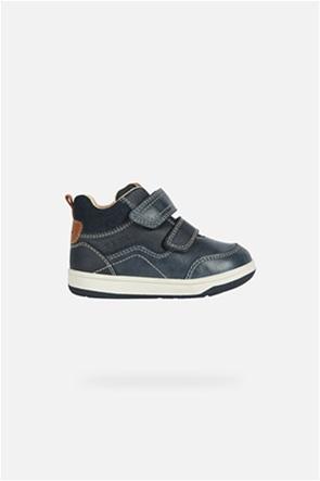 Geox παιδικά sneakers με suede λεπτομέρεια